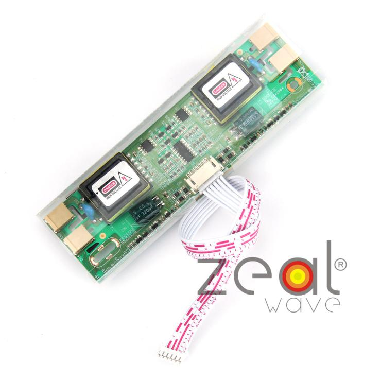 Universal 2pins 3.5mm 4 Lamps LCD CCFL Backlight Inverter Board For Laptop Monitor LCD Screen 12V Input(China (Mainland))