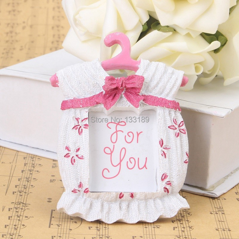 baby shower favors pink blue baby clothes photo frame decor baby
