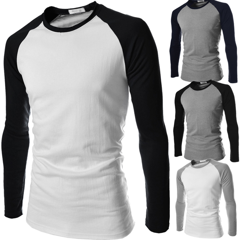 White and black long sleeve shirt artee shirt Mens long sleeve white t shirt