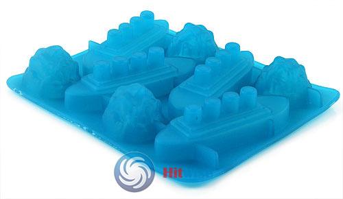 Leoniemart Fashion style Titanic Shaped Ice Cube Trays Mold Maker Silicone Party Practical!(China (Mainland))