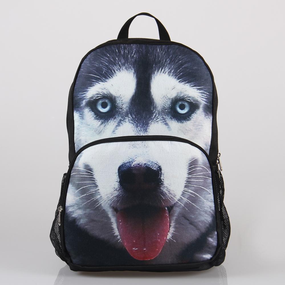 VN Big Sale 3D Animal Felt Backpack Men's Backpack Horse Face School Backpack Bag Men Travel Backpacks Student Bookbag(China (Mainland))