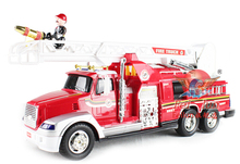 2015 Large Fire Engine spray water 9 Channel Remote Control Fire Salvation Truck 1:10 Fire Fighting Truck Model electronic toys(China (Mainland))