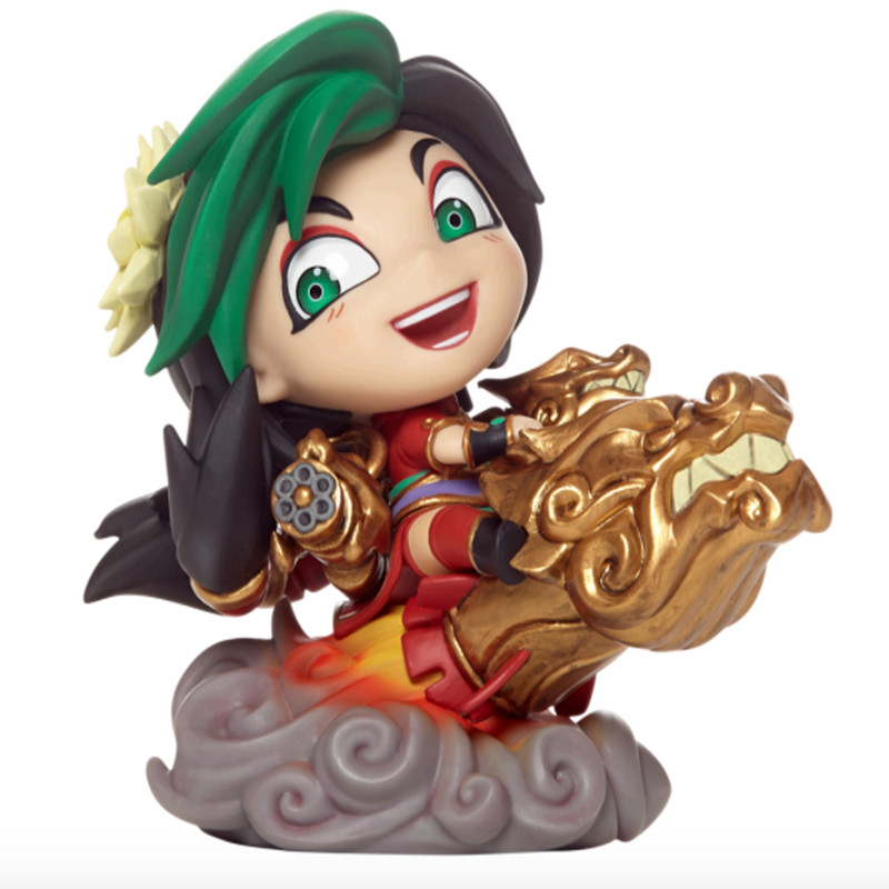 Hot Sale LOL Game JinX Champion PVC Model Anime Figure Models Toys Q Version LOL Action Figures With Retail Box Toys(China (Mainland))