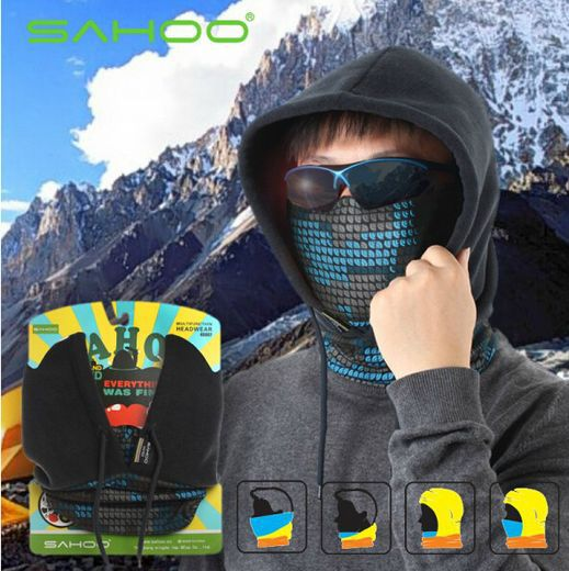 New Roswheel Hiking Bike Bicycle Neck Warm Protect Face Mask Guard Fleece Hoodie Cap Hat 4-Colors(China (Mainland))
