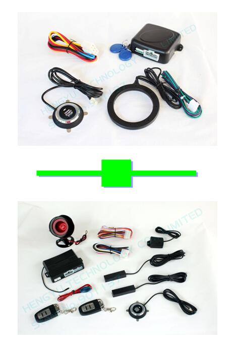 1 pcs car engine push start stop button/RFID engine lock FS-55 + 1 pcs car engine push start stop PKE car alarm FS-58 keyless go(China (Mainland))