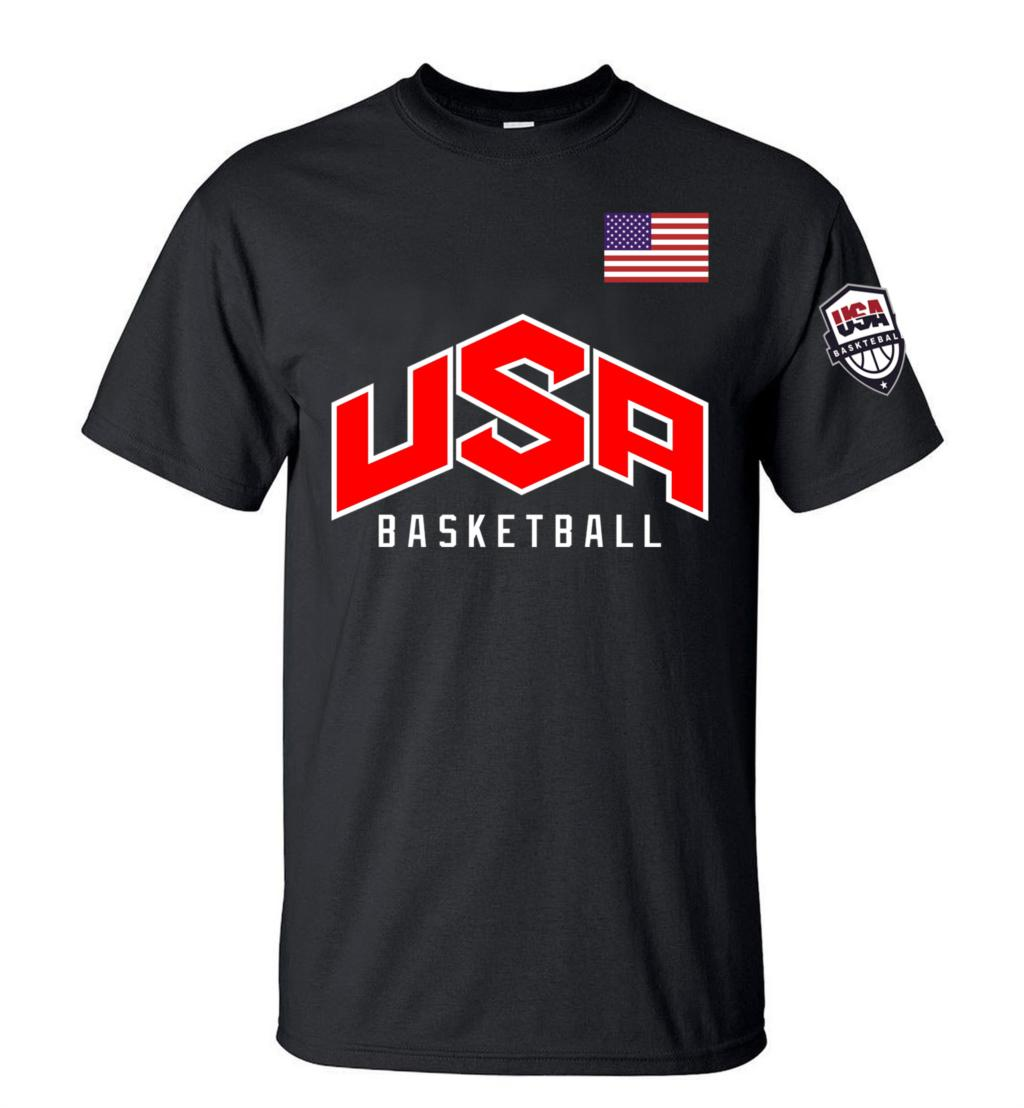 New Arrival Usa Basketball Printed Men T Shirt 2016 Summer