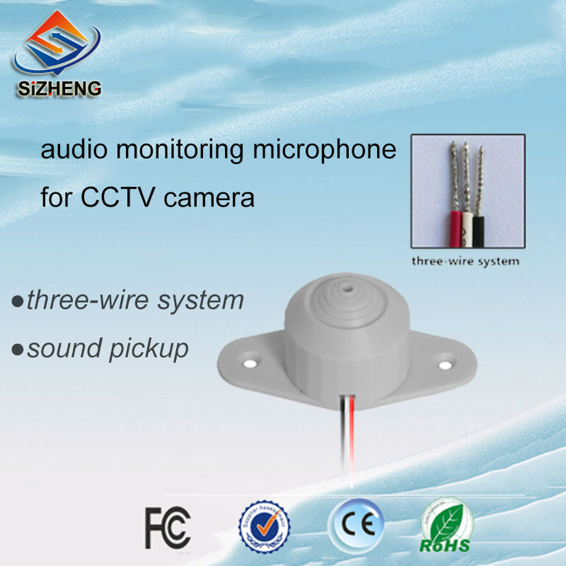 mini ear surveillance microphone cctv audio monitoring sound listening device for security camera(China (Mainland))