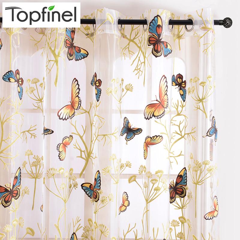 Butterfly kitchen curtains - Achetez En Gros Papillon Fen 234 Tre Rideaux En Ligne 224 Des