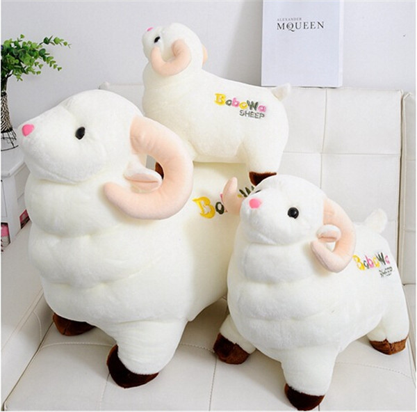 Pure white sheep stuffed toys / children's favorite toys, Christmas birthday gift(China (Mainland))