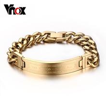 Buy Vnox Gold-color Bracelets Bangles Fashion Men Jewelry Jesus Cross Stainless Steel Rock Jewelry for $6.59 in AliExpress store