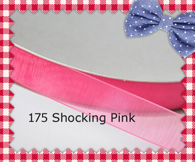 200yards/lot 1/2 Inch (13mm) Shocking Pink / Garden Rose / Azalea / La Rosa / Coral Rose Personalized Organza Ribbons(China (Mainland))