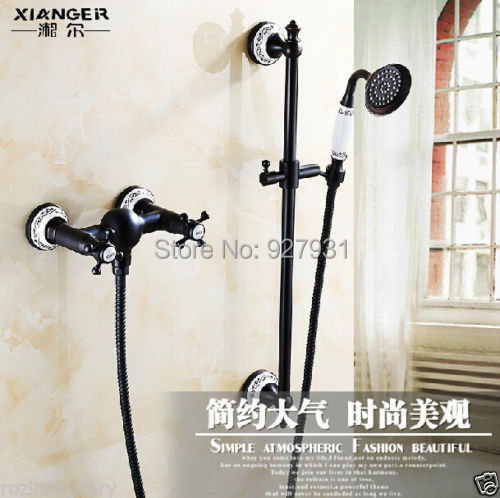 Здесь можно купить  Modern Retro Style Handheld Shower Faucet with Sliding Bar Oil Rubbed Bronze Finished Telephone Style Shower Faucet  Дом и Сад