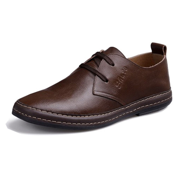 Casual Shoes Men Genuine Leather Business Flats Dress Moccasins Men's Shoes Men Footwear Lace Up Autumn Spring Oxford,RHY1136