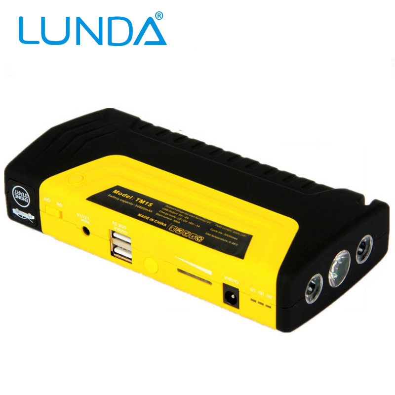 LUNDA High Power 12V car jump starter car-charger Portable Emergency Battery Charger notebook power bank(China (Mainland))