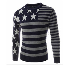 Pull Homme 2016 Brand New Men Autumn Winter Thick Sweater O Neck Slim Fit Knitted Pullovers Sweater Masculin Plus Size 3 Color(China (Mainland))
