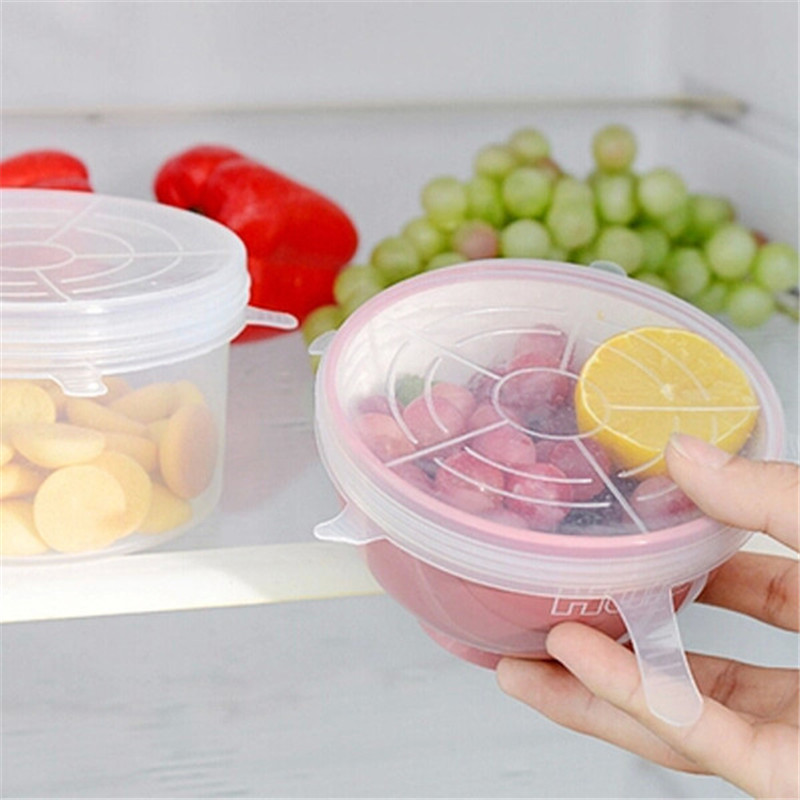 Cookware Part Silicone Food Lids Super Stretch Covers Pan Pot Bowl Cup Dish Food Freshness Safe Heat Resistant S/M/L IC873562(China (Mainland))
