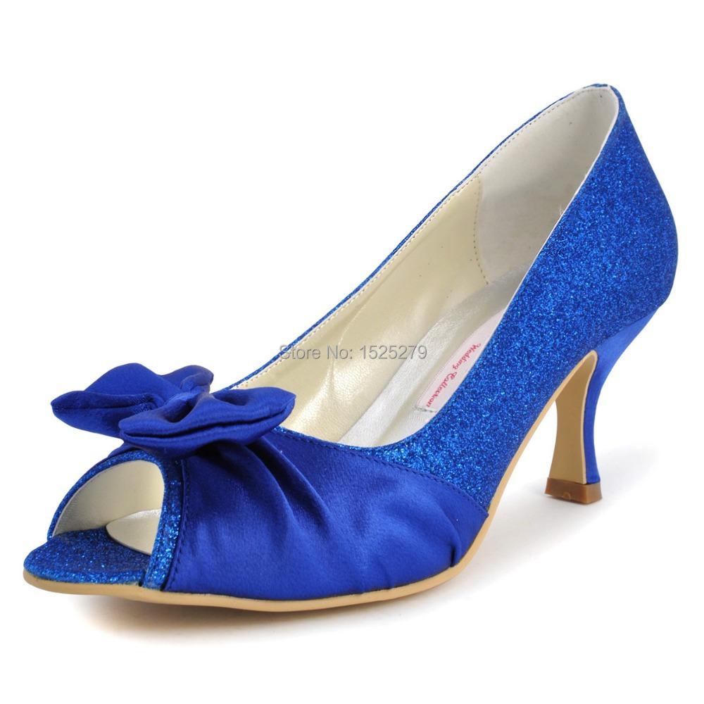 EL10016 Fashion Women Evening Blue Peep Toe Prom Party Pumps Wrap Satin Bow Sandals Glitter Bridal Wedding Shoes<br><br>Aliexpress