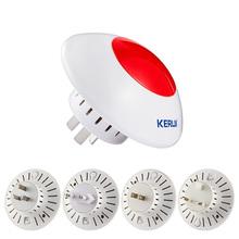 Wireless Flashing Siren Multipurpose Stand Horm Alarm System System Red Light Strobe Siren 433 MHz Wireless Siren(China (Mainland))