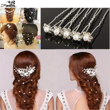 20pcs Wedding mariage Bridal Pearl Hairpins Flower Crystal Rhinestone Diamante Hair Clips Bridesmaid Hair Jewelry Accessories(China (Mainland))