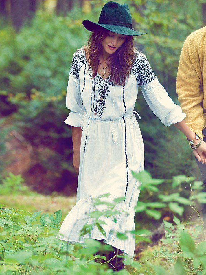 2017 UK British Women Vintage Ethnic Embroidery Vestidos Femininos Summer clothing Hippie Boho People Skirt