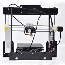Free shipping Big size 220*220*235mm High Quality Precision Reprap Prusa i3 DIY 3d Printer kit with16GB TFcard+2rolls filament