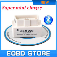 Top selling SUPER MINI ELM327 Bluetooth OBD2 V2.1 White Smart Car Diagnostic tool ELM 327 Wireless Scan Tool