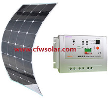 hotsale solar panel 95w with connection Box + 0.9M cable, MC4 connector, 12V&24V Auto MPPT solar charege controller.