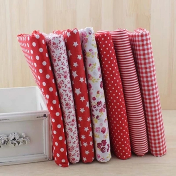 7pcs Red 100% Cotton Patchwork Fabric for DIY Sewing Quilting Tissue Kids Bedding Textiles Tilda Doll Cloth Fabric 50*50cm(China (Mainland))