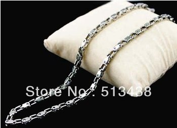 10pcs 21.6'' new style  unisex  jewelry silver good quality Stainless Steel 2.7mm bike chain necklace,free shipping