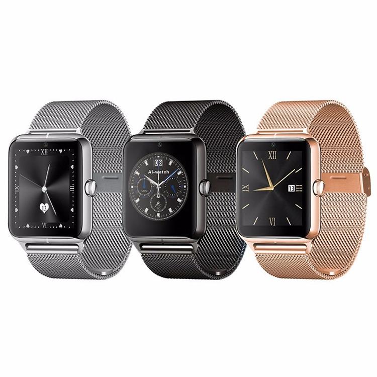 ถูก แฟชั่นบลูทูธดูสมาร์ทกับซิมการ์ดTF mp3 mp4ที่รองรับสมาร์ทนาฬิกาที่มีแอปเปิ้ลและAndroidโทรศัพท์
