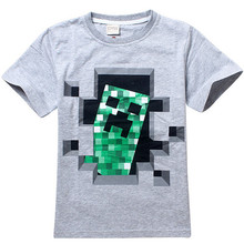New Cartoon Creeper Children T Shirts Fit 2015 Summer Boys Kids Short Sleeve Tees Cotton Baby Clothing Girls And Boys' T-Shirts
