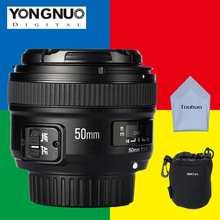 Buy YONGNUO 50mm Lens YN50mm f/1.8 AF/MF Large Aperture Auto Focus Nikon d3300 d5300 d3200 d7200 Canon 600d 60d EOS DSLR Camera for $50.32 in AliExpress store