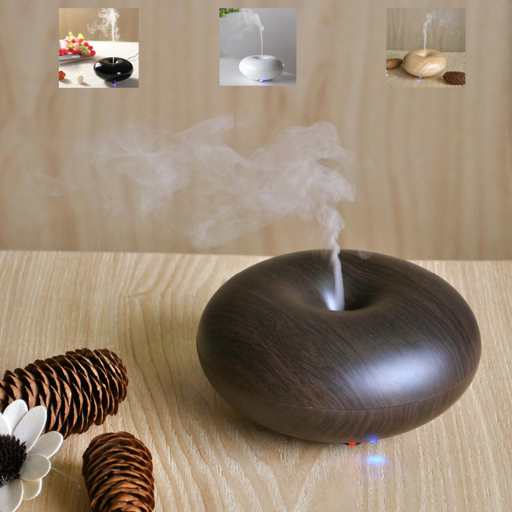 Difusor aroma Nebulizer Wood Grain Ultrasonic Air Humidifier Aroma Diffuser Aromatherapy Office Purifier Mist Maker(China (Mainland))