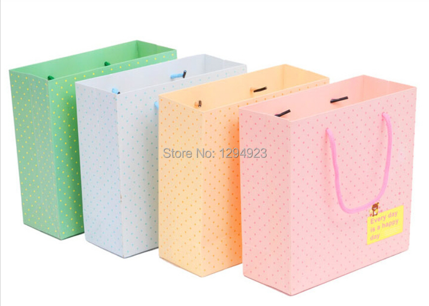 Size 20*8*20cm Yellow luxury Paper Bag Printing with Best Price Free Shipping(China (Mainland))