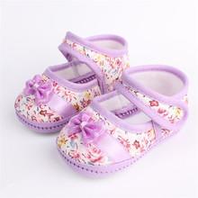 Малыш Девушки Цветы Лук Обувь Весна Осень Обувь Первые Ходоки(China (Mainland))