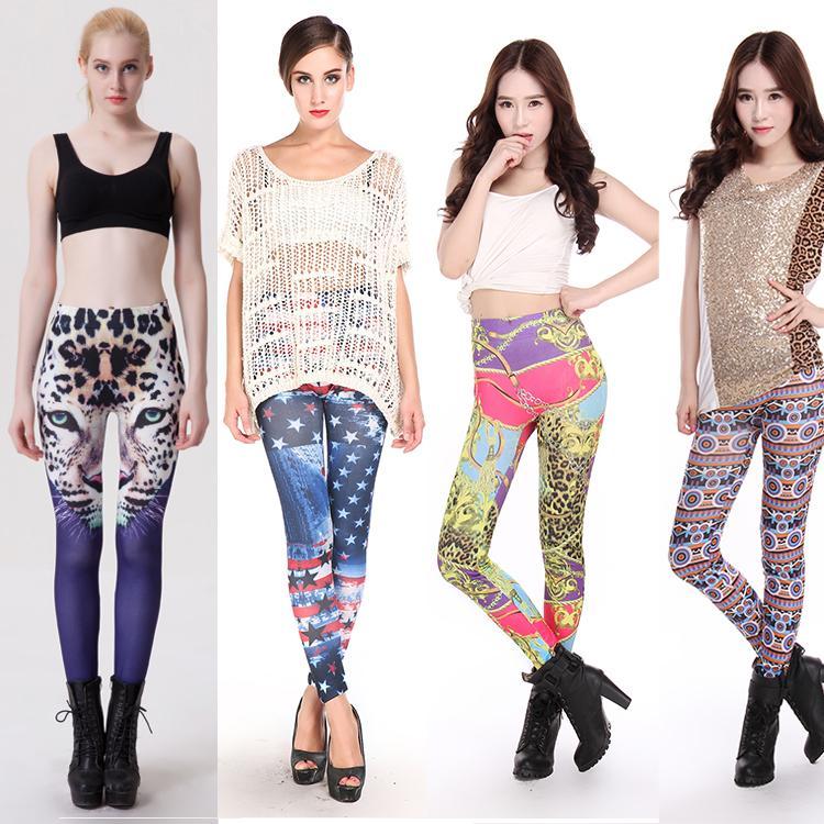 Womens Colorful Leggings