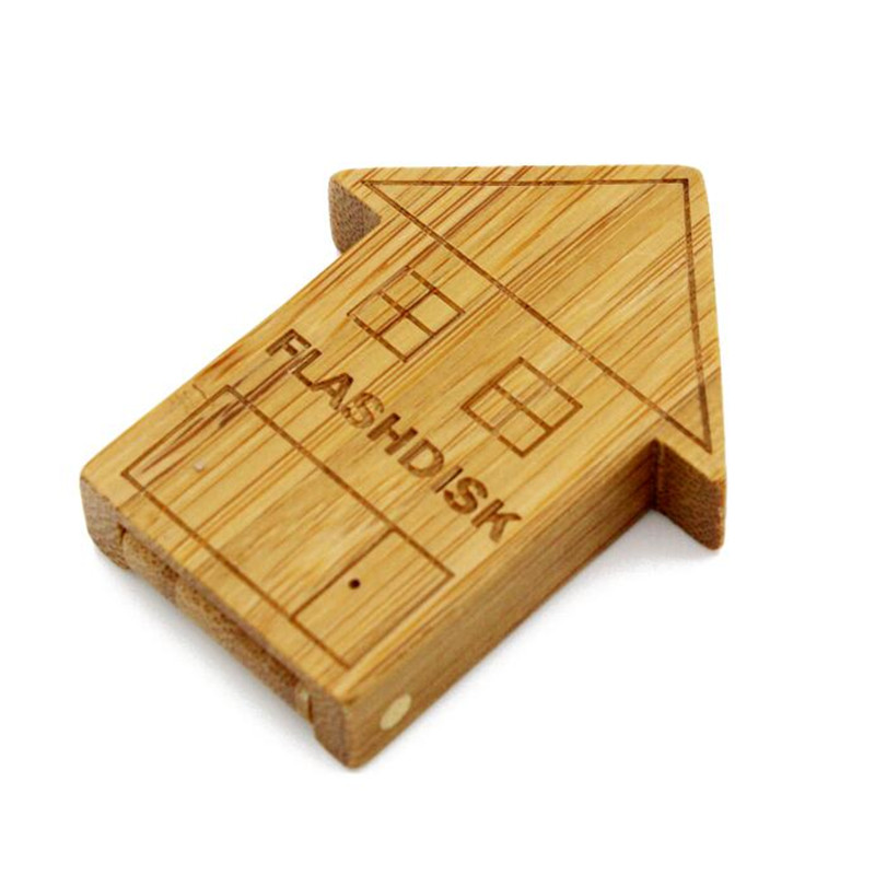 wooden house Pendrive houten USB Flash Drive Memory Stick Pen/Thumb/Auto usb flash drives 4gb 8gb 16gb 32gb 64gb LOGO engrave(China (Mainland))