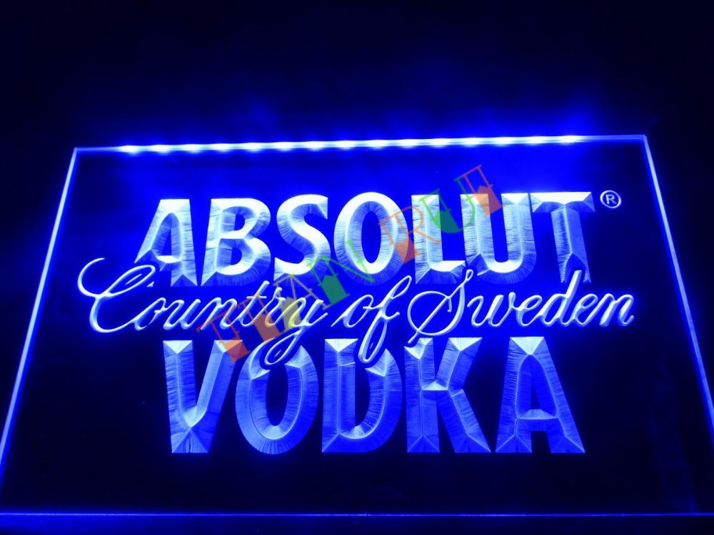 LE025- Absolut Vodka Country of Sweden Beer Neon Bar Light Sign home decor shop crafts(China (Mainland))