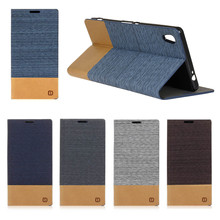 Sony Xperia C6 XA Ultra F3212 F3216 PU Leather Fashion Design Stand Wallet Flip Case Card Slot Canvas Cover Coque capa - The New Phone Covers Store store
