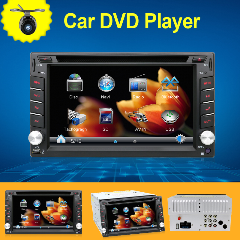 """2din GPS Navigation 3D PIP Map 6.2"""" In Dash Car DVD Player Bluetooth TV Radio Steering Wheel 3G USB BT FM For universal any car(China (Mainland))"""
