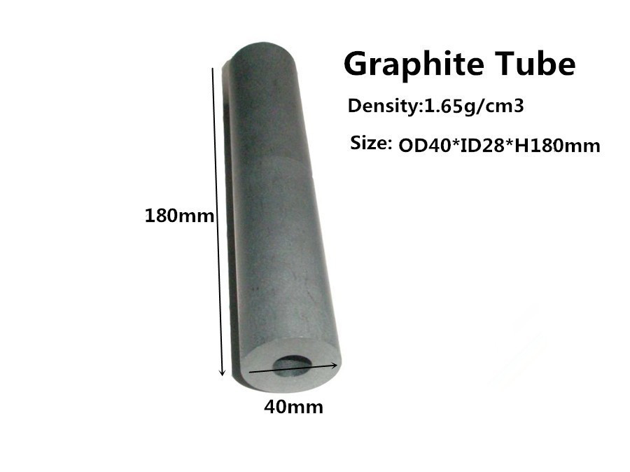 Electrode Graphite Tube OD40*H180mm , Lead method anaerobic copper tube graphite mould(China (Mainland))