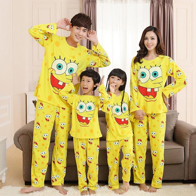 Семьи соответствующие наряды родители детей одежда семья хлопок костюм мультфильм ...