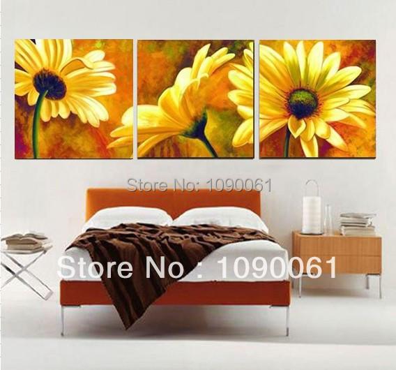 wandbilder wohnzimmer blumen:Canvas Painting Ideas Flowers