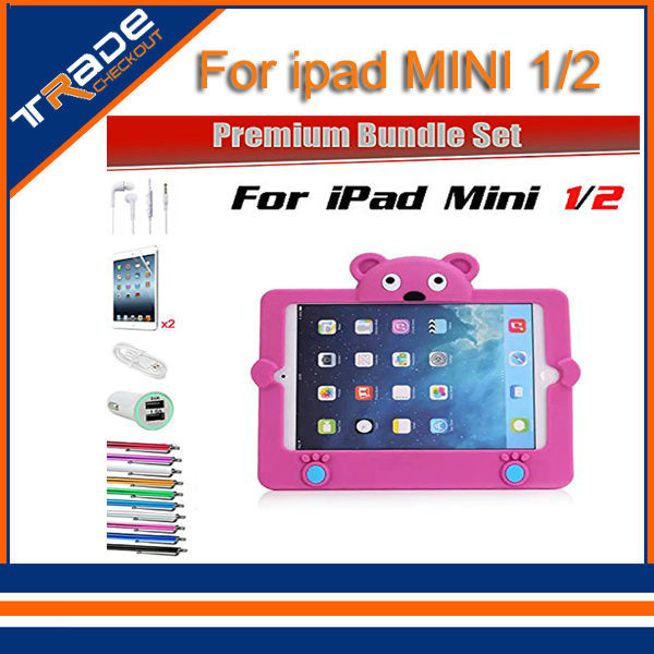 Protective Shockproof Case iPad Mini 1/2 Drop Proof Cover Home Childred Kids + USB Car Charger - Tradecheckout store
