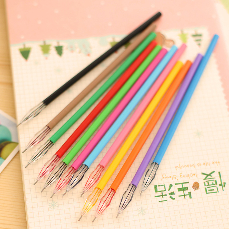 Diamond Head Factory Direct Creative Stationery Candy-Color Gel Pen Refills For The Core 0.38mm 12 Color