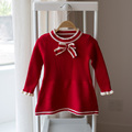 Garlic children s clothing autumn children s clothing child sweater female child small one piece dress