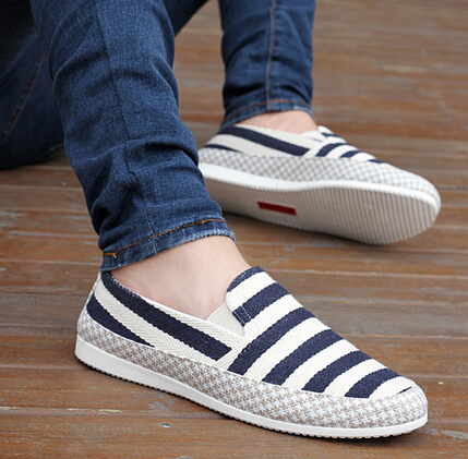 Freeshipping Best Selling High Quality Canvas Clothing Flat Shoes Casual Men Driver's Flats Size 39-44 3 Colors M021(China (Mainland))