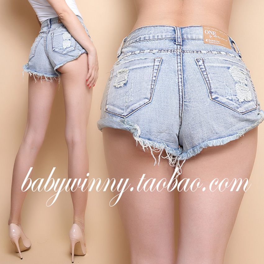 FREE SHIPPING 2016 Summer New Arrival SPECIAL OFFER All Match Essential Vintage High Waist Package Hole Short Jeans Shorts Women(China (Mainland))