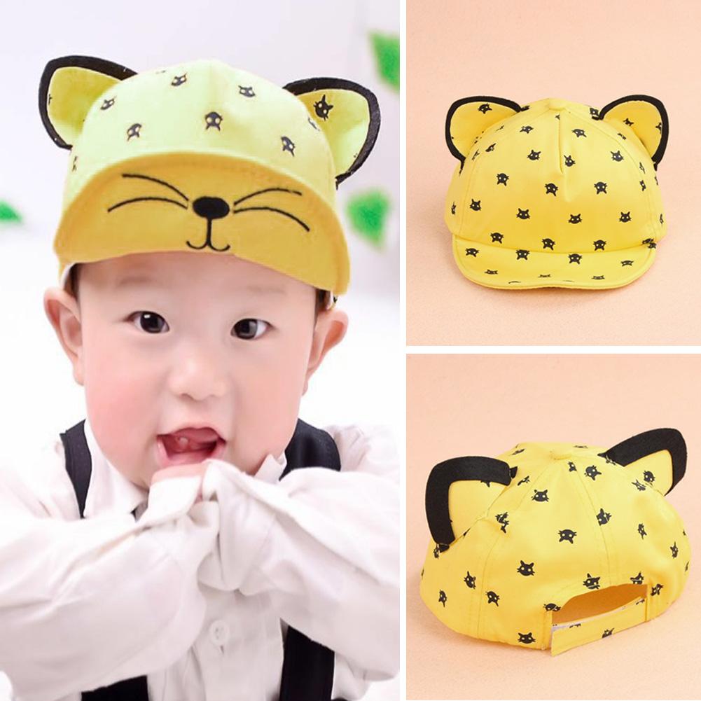 2017 Summer Baby Hats With Ears Beard Cartoon Kids Baseball Cap Baby Boys Girls Sun Hat #LD789(China (Mainland))