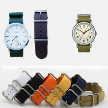Men s Nylon Sport Wrist Watch Band Strap Infantry Military Army 6 Color 20mm